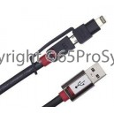 ขาย สาย USB Monster Connect2 Micro USB And Apple 8 Pin iPhone 5 Data Cable