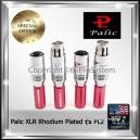 Palic XLR Plug Balance Plug ทองแดงชุบโรเดียม Rhodium Plated รุ่น PL2 (ราคาต่อ 1ตัว)