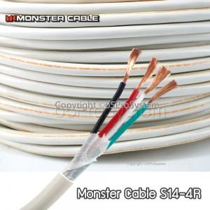 ขาย สายลำโพง Monster Cable S14-4R CL Monster Standard Four Conductor Dual Channel UL CL3 Rated Speaker Cable 14 Gauge